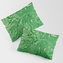 Green pastel abstract marble Pillow Sham