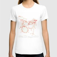 kit king T-shirts featuring Drum Kit by Fay's Studio