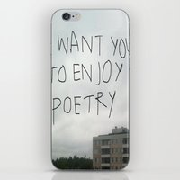 poetry iPhone & iPod Skins featuring poetry by Willow Summers