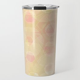 Peachy Keen Hexagons Travel Mug