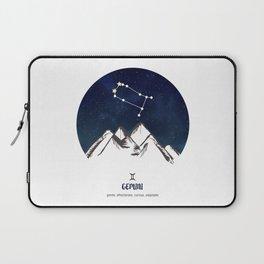 Astrology Gemini Zodiac Horoscope Constellation Star Sign Watercolor Poster Wall Art Laptop Sleeve