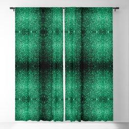 Beautiful Emerald Green glitter sparkles Blackout Curtain