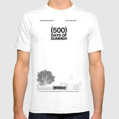 (500) Days of Summer MEDIUM White Mens Fitted Tee