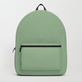 QUIET GREEN solid color Backpack