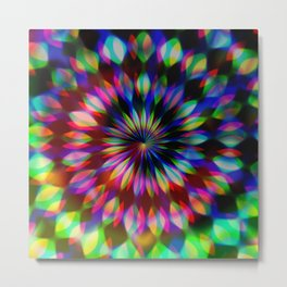 Psychedelic Rainbow Swirl Metal Print