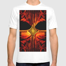 Abstract.Red Flame. T-shirt