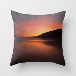 Red Dawn Throw Pillow