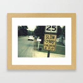 Love's Running... Framed Art Print