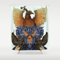 phoenix Shower Curtains featuring Phoenix  by AnnaClaire