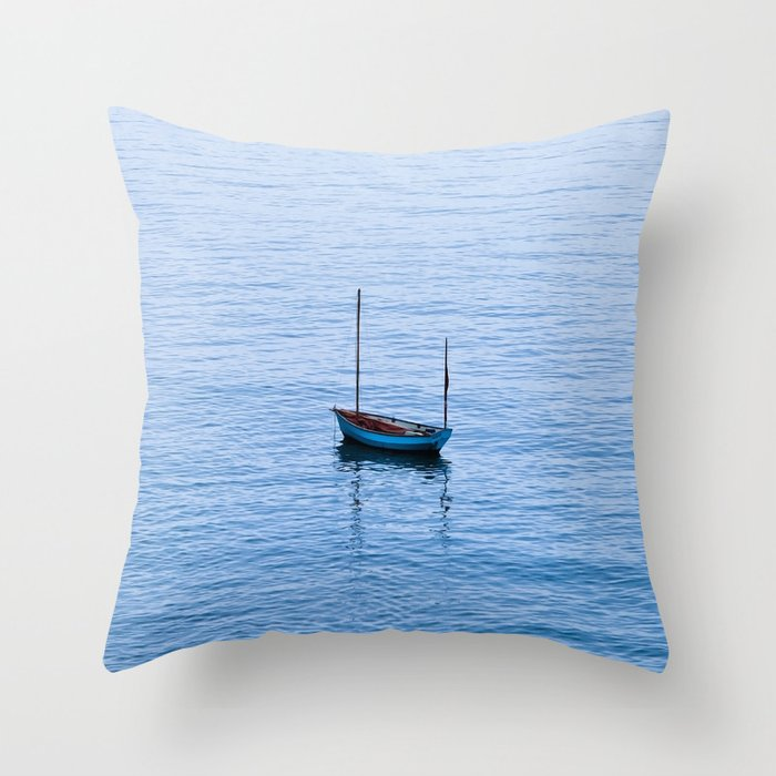 One Little Boat Throw Pillow