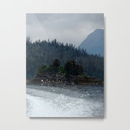 Spray Metal Print