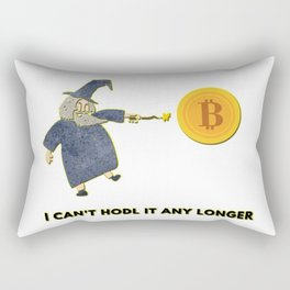 Can't Hodl Rectangular Pillow