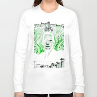 lovecraft Long Sleeve T-shirts featuring Mr. Lovecraft by Robert Hoops