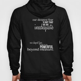 Our Deepest Fear - Coach Carter - Quote Poster Hoody