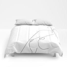 Nude Line Comforters