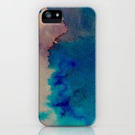 WaterColor Multi Blue Print iPhone Case
