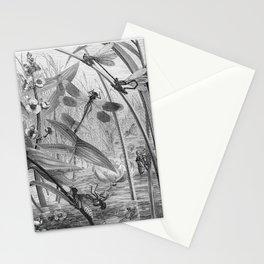 Dragonfly Wasserjungfern Line Art Stationery Cards