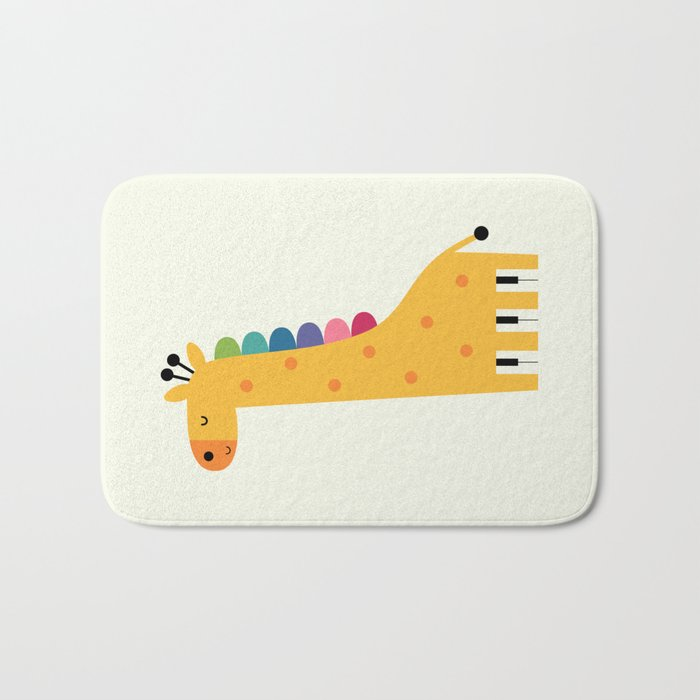 Giraffe Piano Bath Mat
