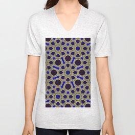 Islamic Geometry Unisex V-Neck