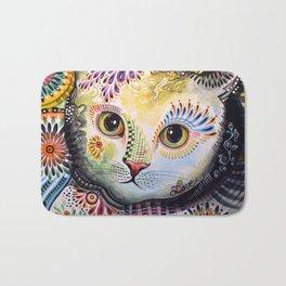 Lucy ... Abstract cat pet animal art Bath Mat