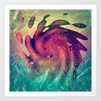 underwater Art Prints featuring Underwater by GypsYonic