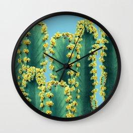 Adorned Cactus || #society6 #buyart #decor Wall Clock