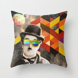 Public Figures Collection - Chaplin Throw Pillow