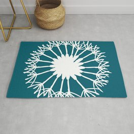 Oceanside Blue Botanical Rug