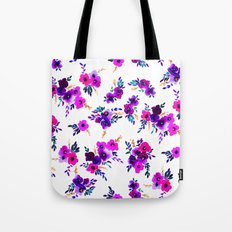 Ava Floral Purple Tote Bag