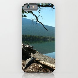 Turquoise Blue Waters Of McDonald Lake iPhone Case