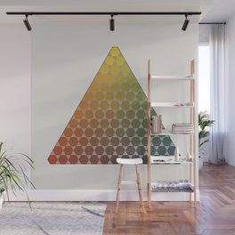 Lichtenberg-Mayer Colour Triangle vintage remake, based on Mayers' original idea and illustration Wall Mural