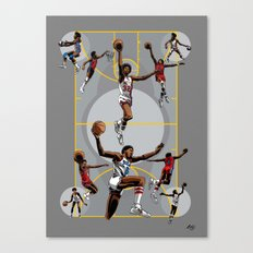 Dr. J; Illuminated Canvas Print