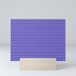 Blue spheres texture Mini Art Print
