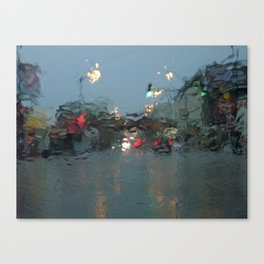 Lincoln/Wrightwood in the Rain Canvas Print