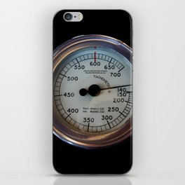 speed - vintage tachometer iPhone Skin