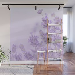 Lovely Lavenders Pastel Purple Background #decor #society6 #buyart Wall Mural