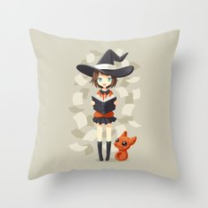 Little Witch 2 Throw Pillow