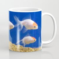 swimming Mugs featuring Swimming by Jenna Allensworth