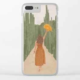 A Way Through the Cactus Field Clear iPhone Case