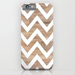 woodgrain cheveron iPhone Case