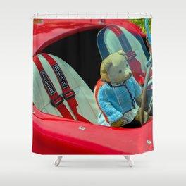 BEARY NICE CAR Shower Curtain