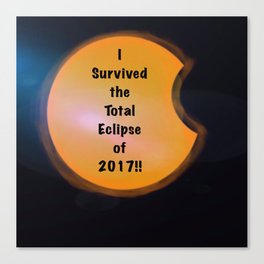 I Survived the Total Eclipse Canvas Print