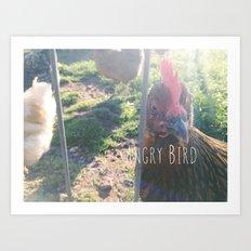 Angry Bird Art Print