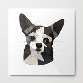 Black Chihuahua Metal Print