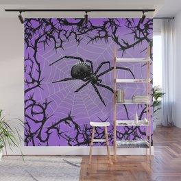 Briar Web- Purple Wall Mural
