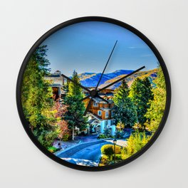 Vail Colorado Photo Wall Clock