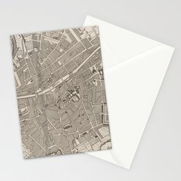 Vintage Map of Dublin Ireland (1764) Stationery Cards