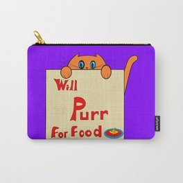 A Orange Kitty, Will Purr for Food Carry-All Pouch