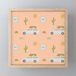 Road Trippin' in Peach Framed Mini Art Print