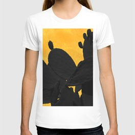 Cactus shadows in the sunset T-shirt